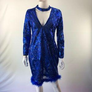 Blue Dress Size Small Knee Length